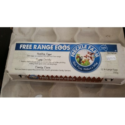 Eggs Freckle Farm Free Range 700g Dozen